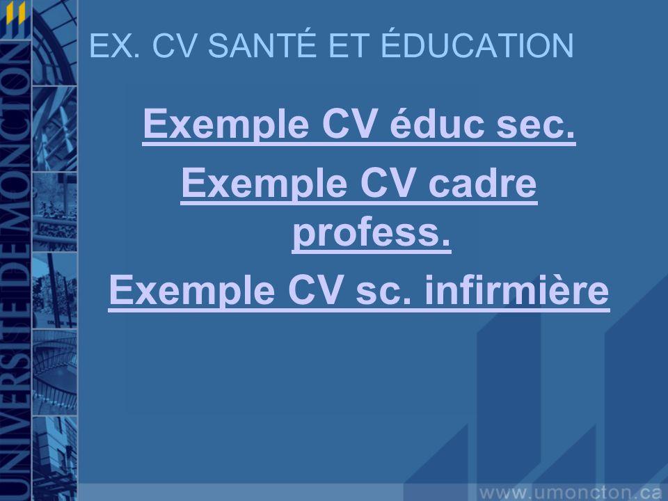exemple cv educ