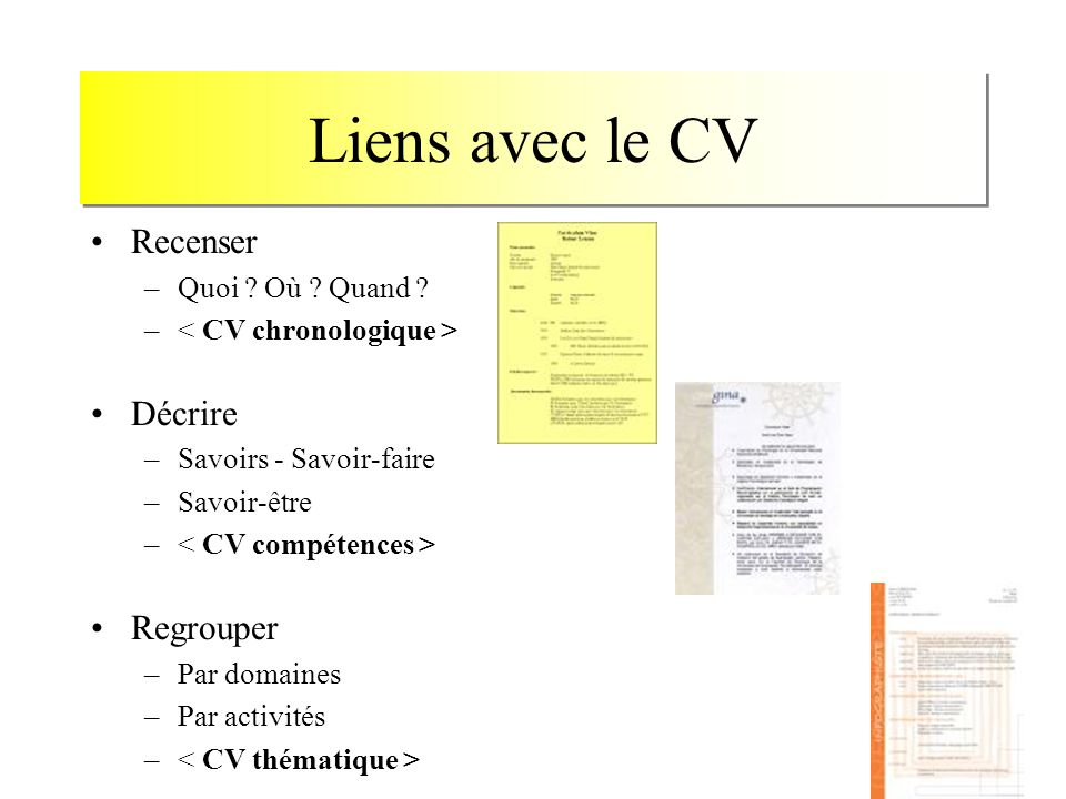 comment rediger un cv thematique