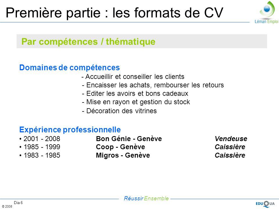 cv domaines de competence