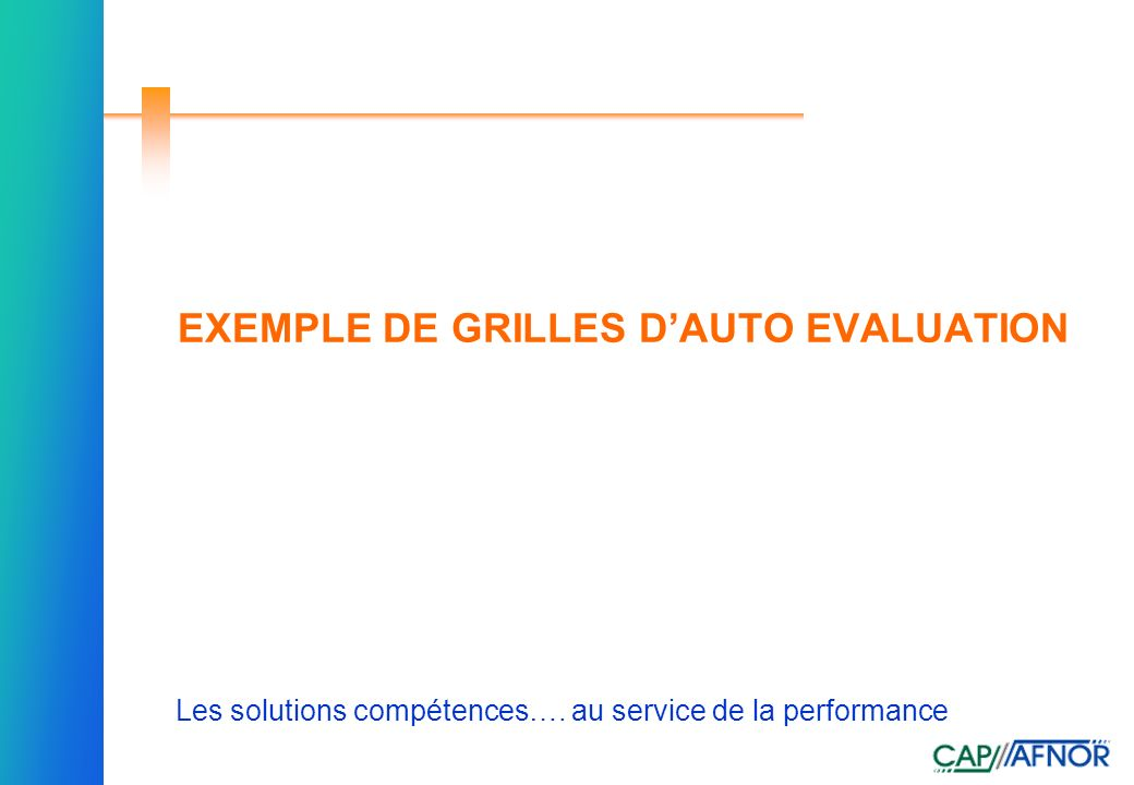exemple cv auto evaluation