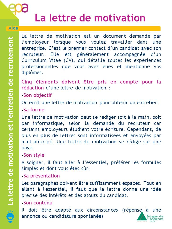 le cv est plus importante que la lettre de motivation