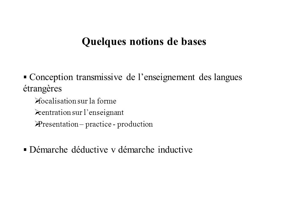 cv quelques notions de base en langue
