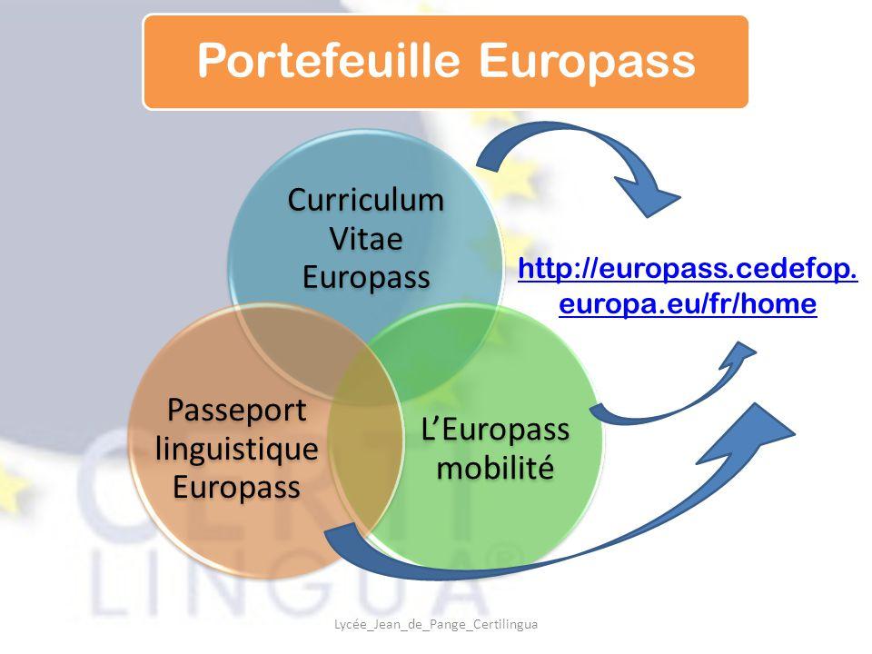 europass certilingua cv