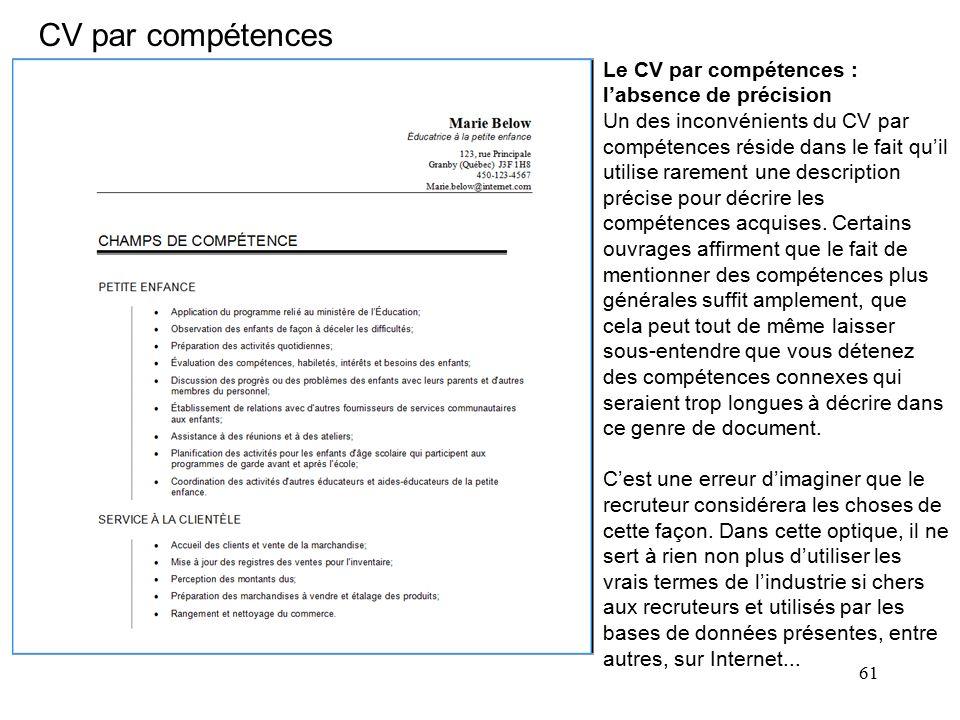 qu est ce que sont des competences sur un cv