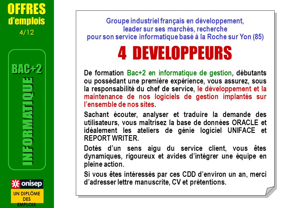 bases de donnees relationnelles informatique cv