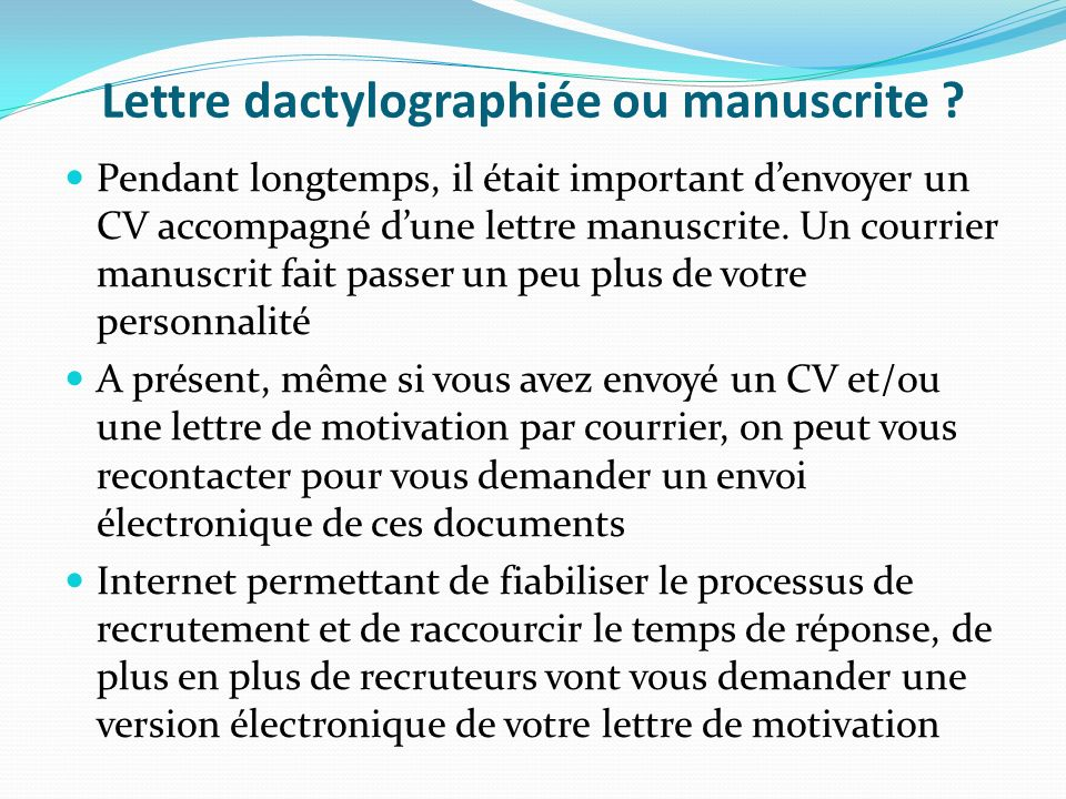 courrier cv ou lettre de motivation