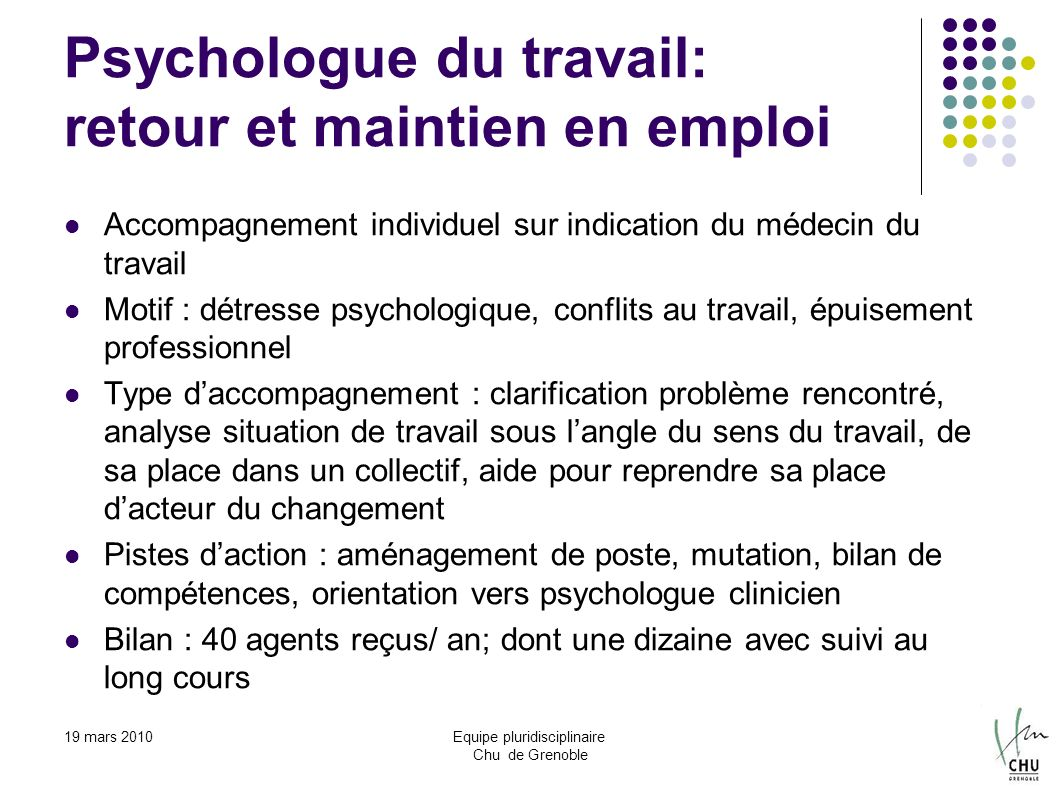 cv psychologue du travail bilan de competences