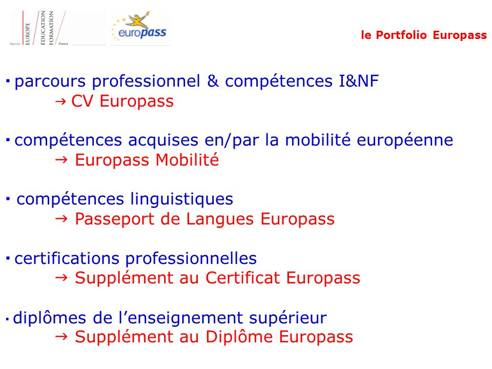 classification competences professionnelles cv