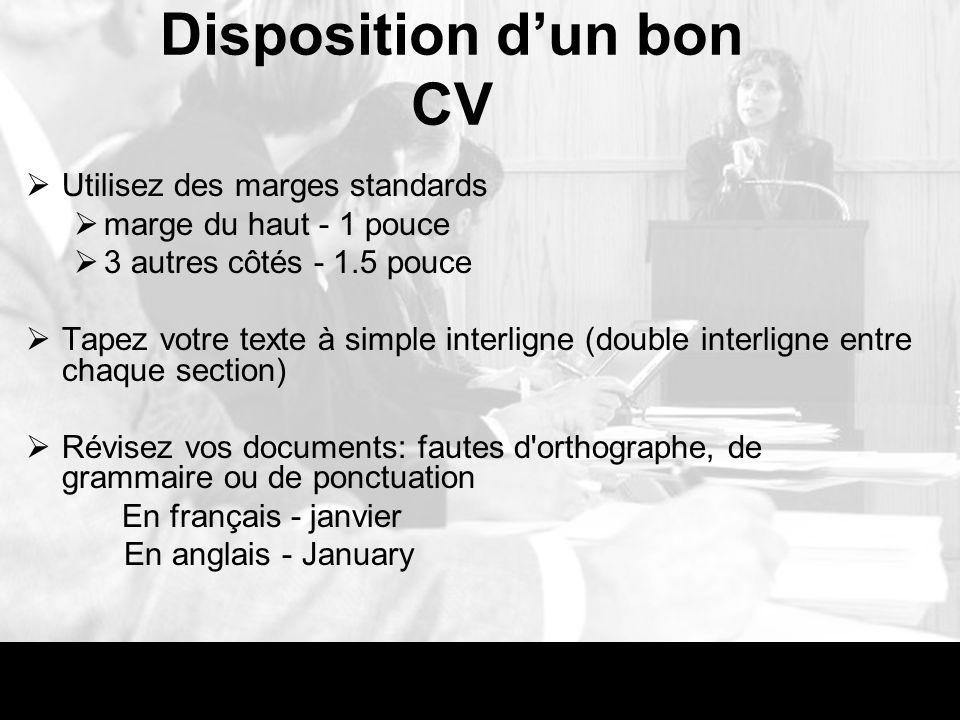 cv en anglais abreviations