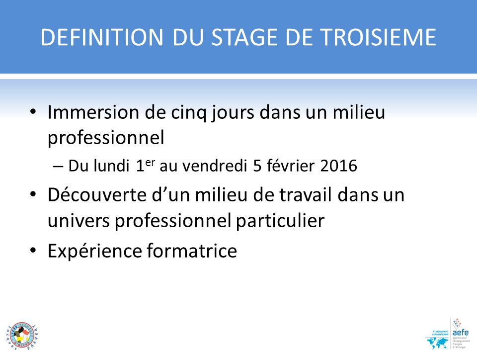 stage decouverte cv
