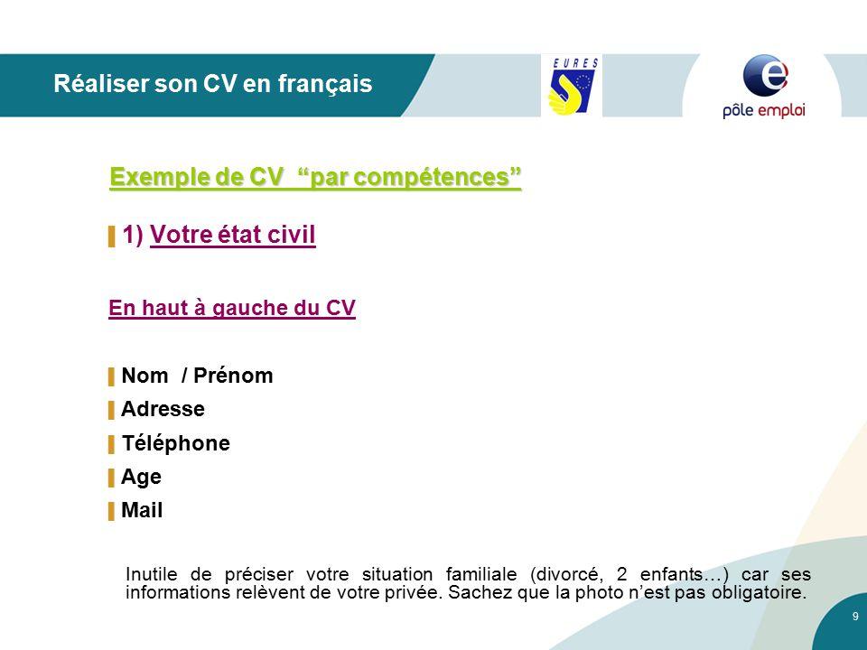 cv francais adresse complete obligatoire