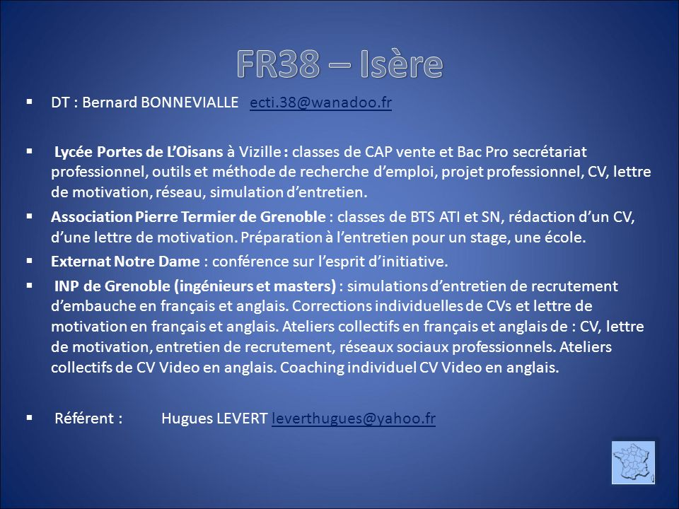 referent cv anglais