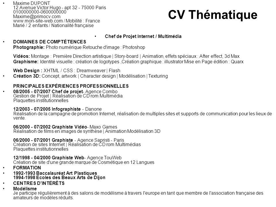 modeles de cv multi experiences