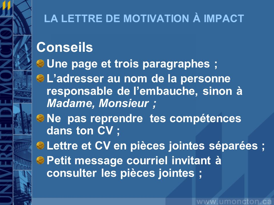 cv lettre de motivation separees