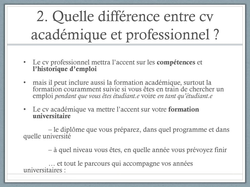 la difference entre formation et diplome sur cv