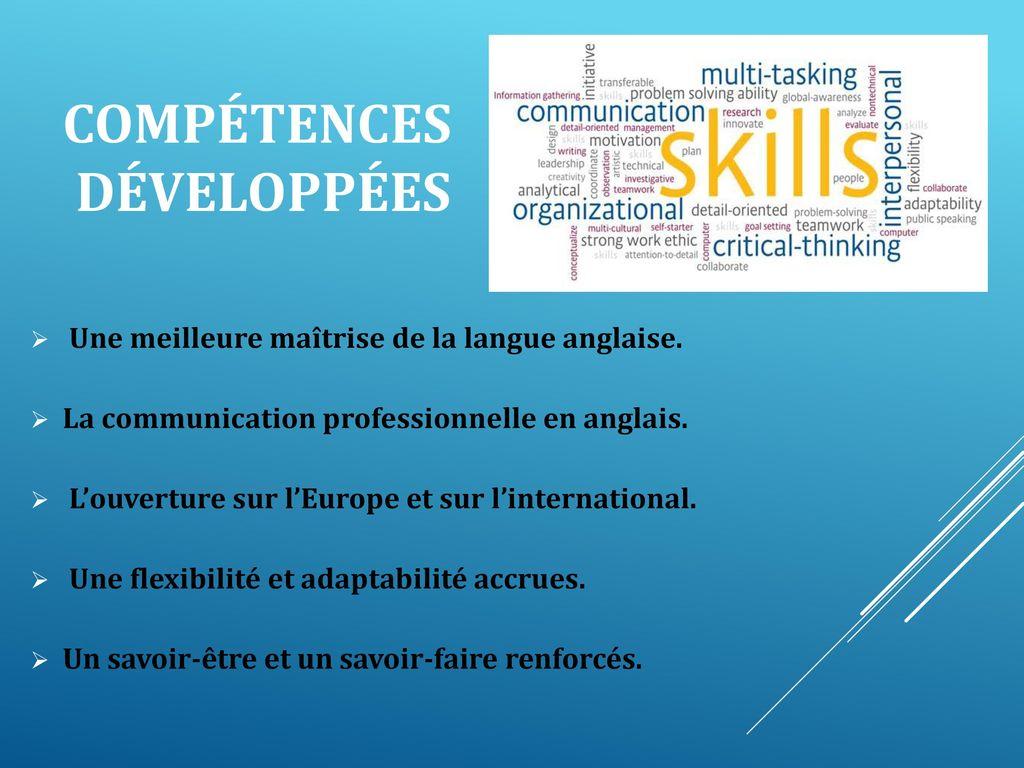 competences cv flexibilite
