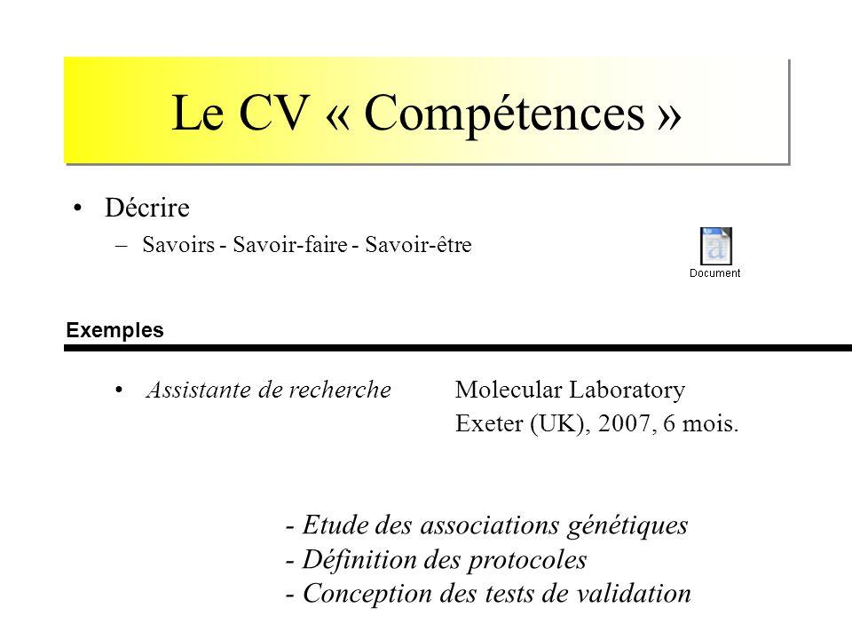 comment regrouper competences cv