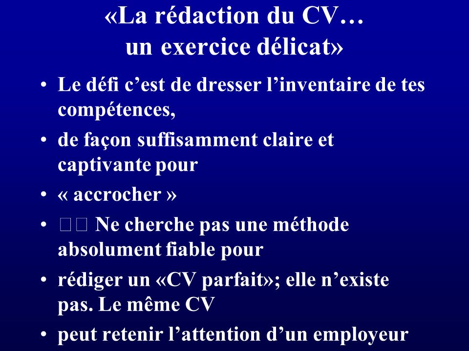 comment finir un cv video