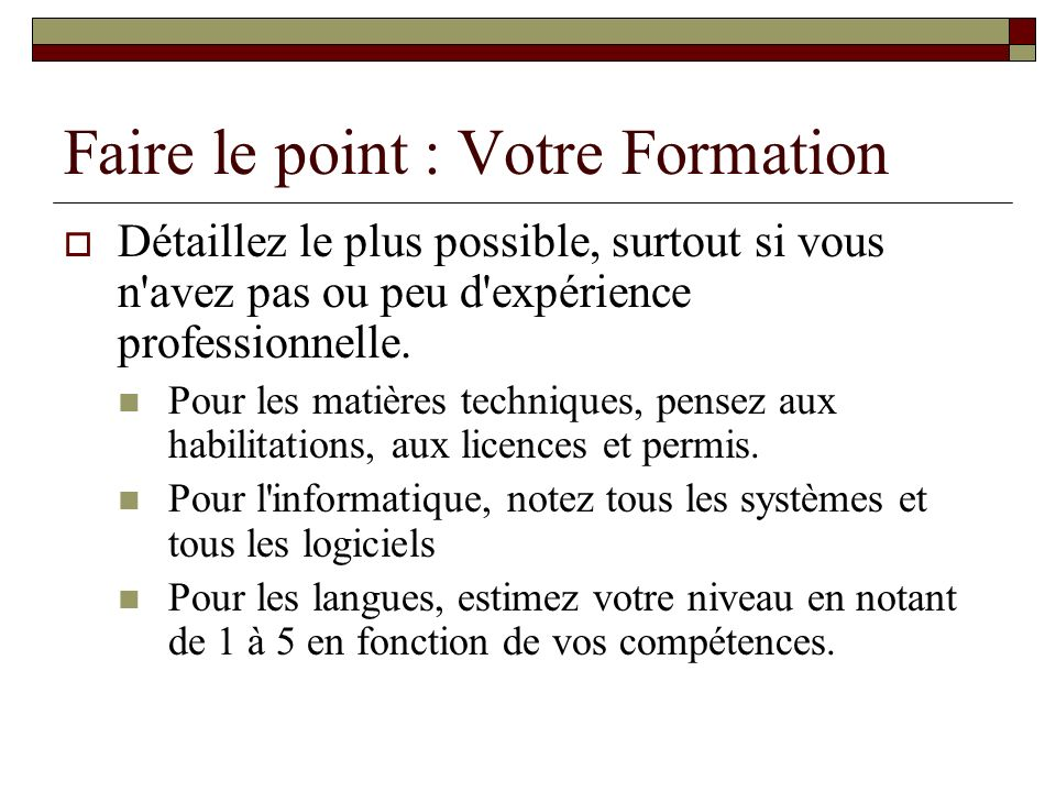 competences langues sigles cv