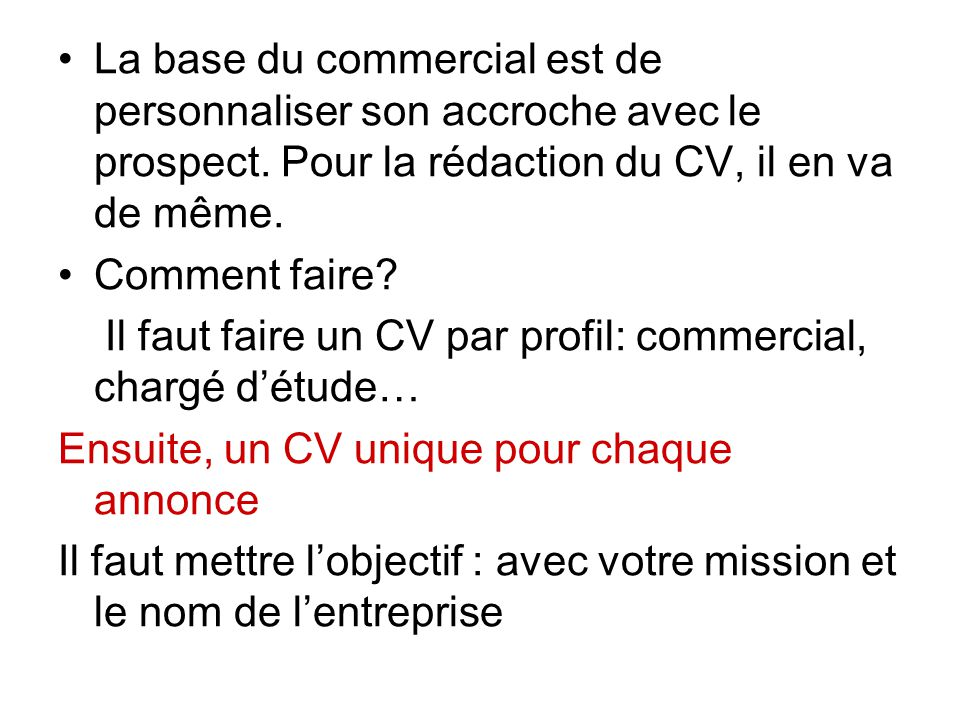 il faut faire un cv traduction