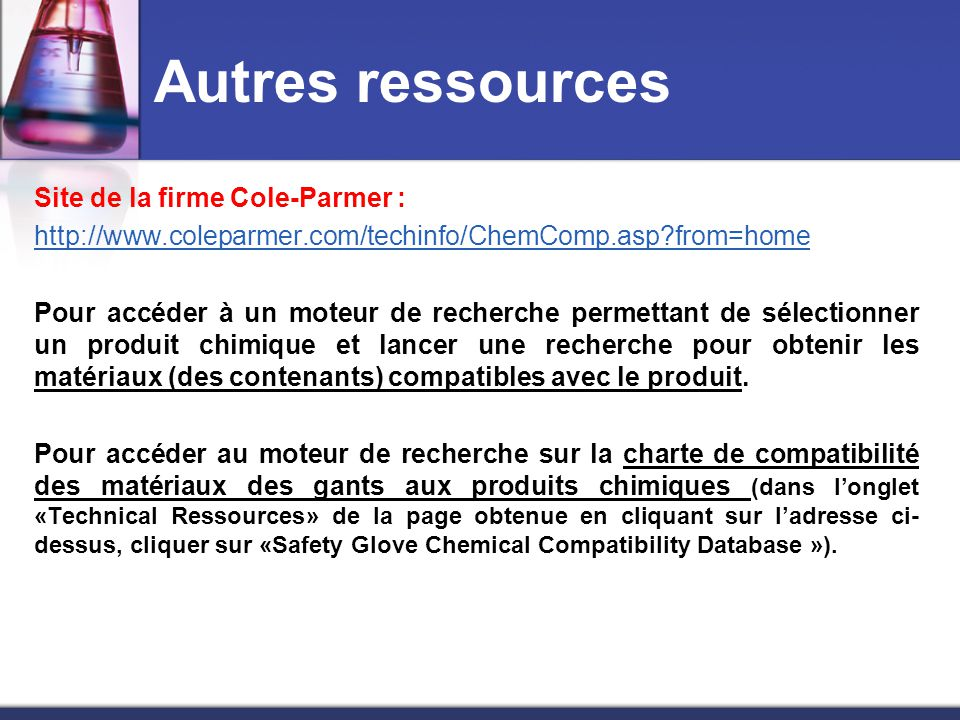 Chemical Compatibility Database from ColeParmer 6662889