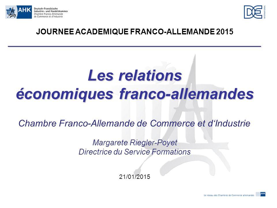 Les relations économiques franco-allemandes - ppt télécharger - Chambre De Commerce Franco Allemande