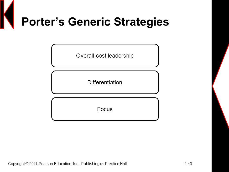 Porter Generic Strategy - porter's three generic strategies