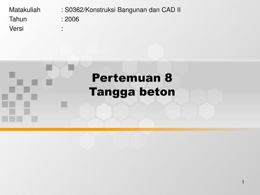 Model Tangga Beton Pertemuan 8 Tangga Beton Ppt Download