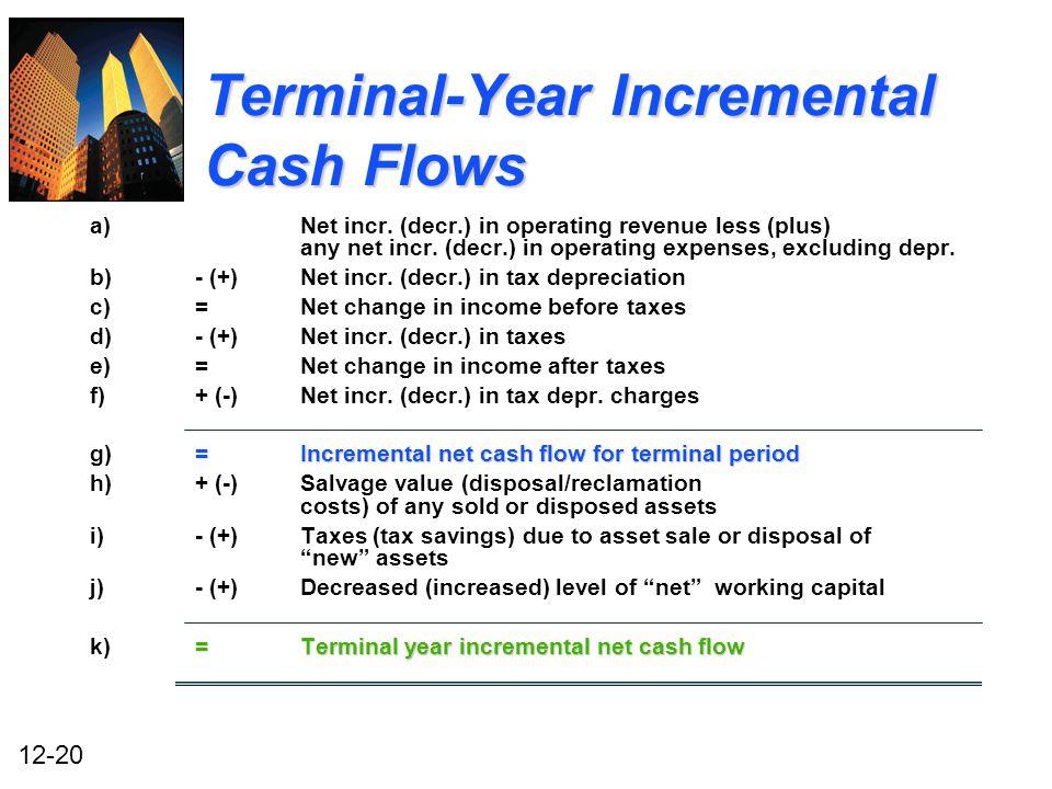 Cash flow incremental College paper Academic Service