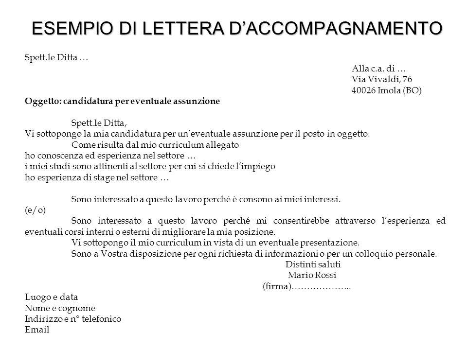 Lettera di presentazione per un curriculum vitae / tslnigeria