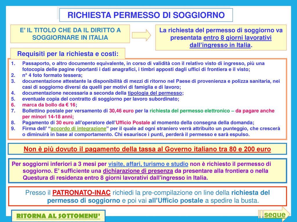Permesso Di Soggiorno Italiano In Svizzera | Stunning Esame Per ...