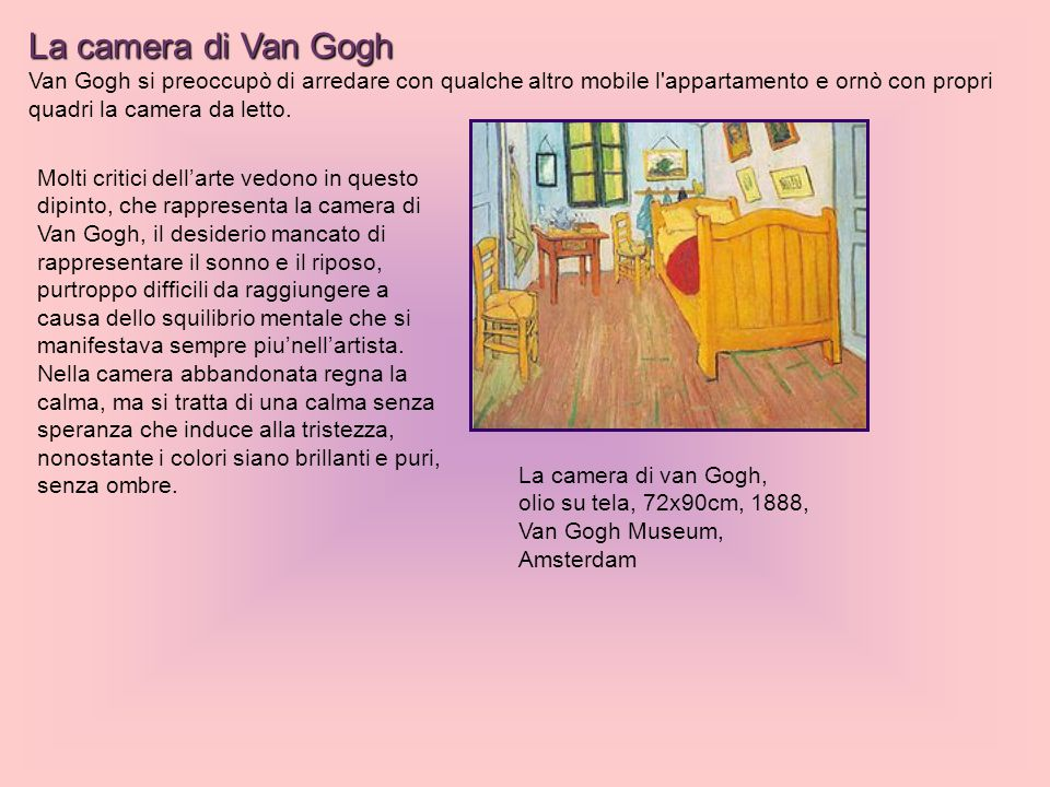 La Camera Da Letto Di Vincent Van Gogh | Quadri Moderni-quadri ...