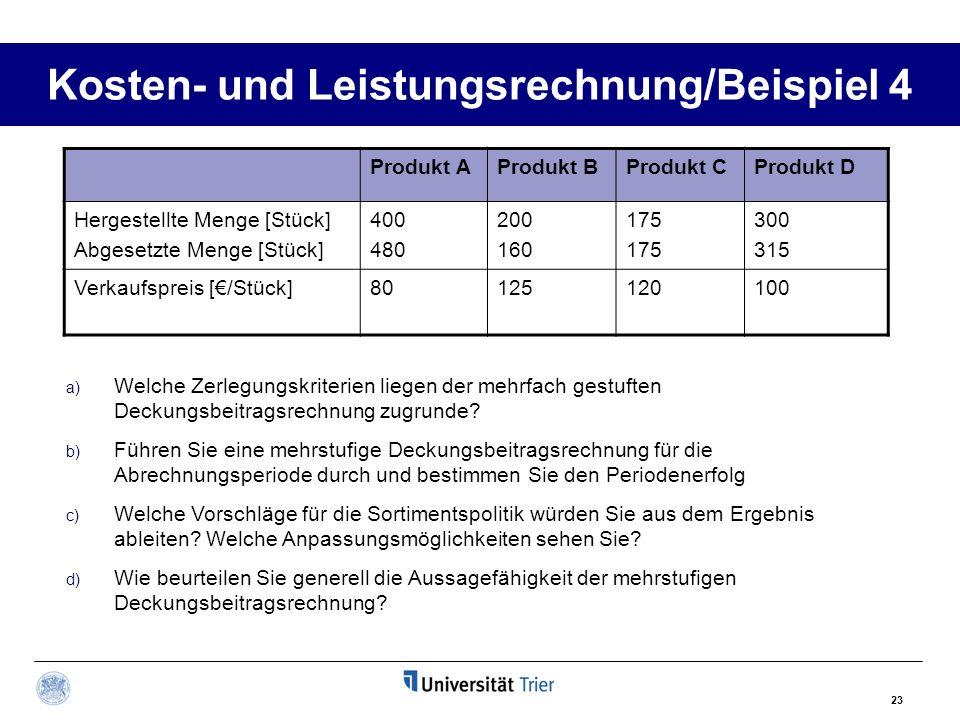 BWL III u2013 Rechnungswesen\/ Kosten- und Leistungsrechnung - ppt - 125 kosten