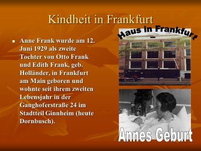 A n n e F r a n k (Leben) Die 8.Klasse ppt video online herunterladen