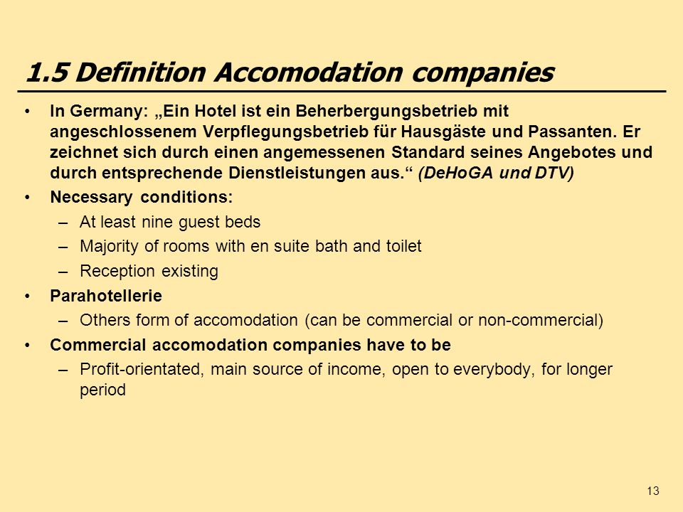 Nasszelle Definition International Hospitality Management - Ppt Herunterladen
