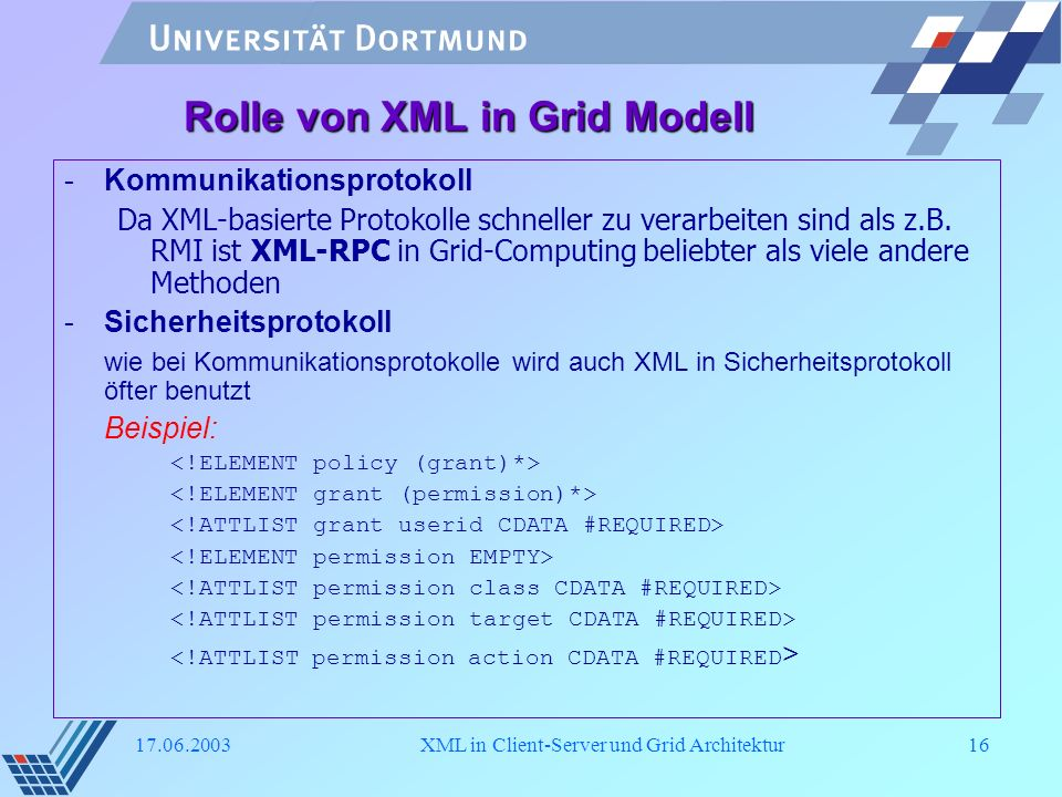 Entry1 Xml In Client Server Und Grid Architektur Ppt Herunterladen