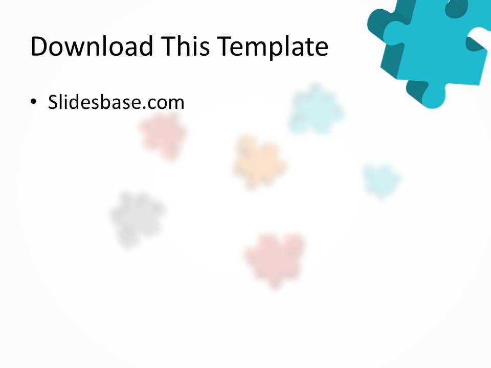 3D Colorful Puzzle Powerpoint Template Slidesbase - puzzle powerpoint template