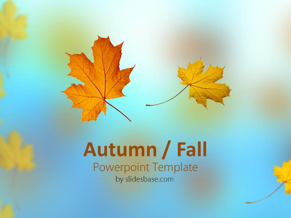 Autumn / Fall Powerpoint Template Slidesbase