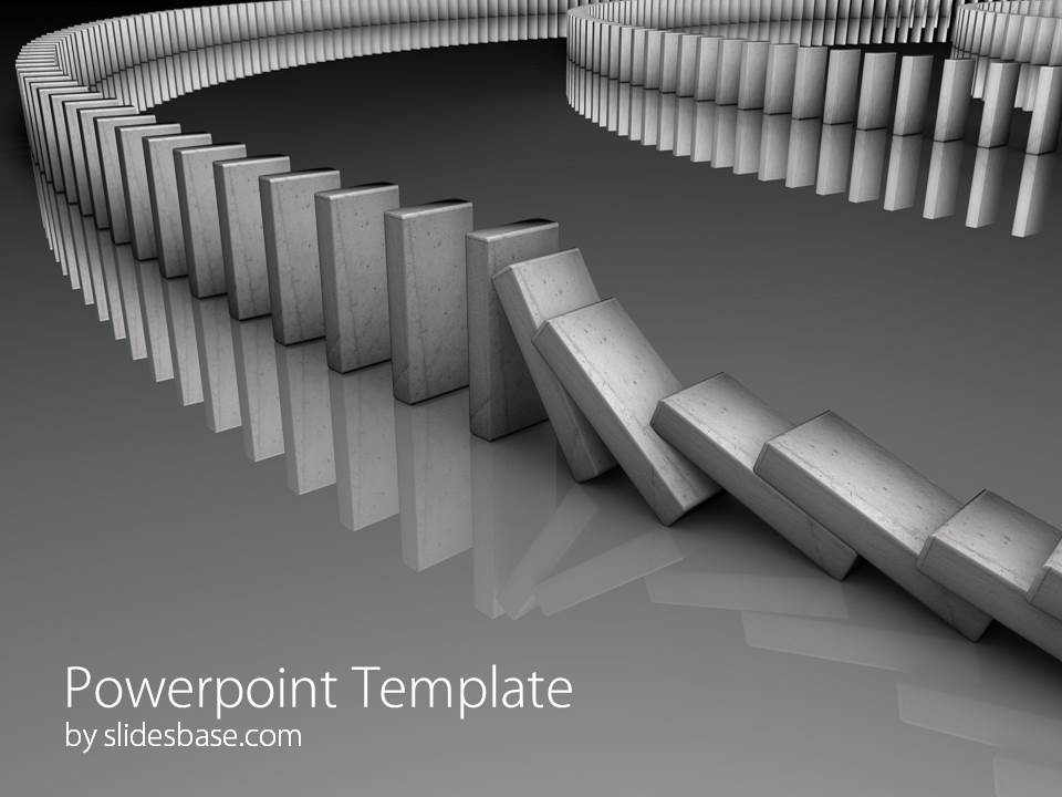 Domino Effect Powerpoint Template Slidesbase