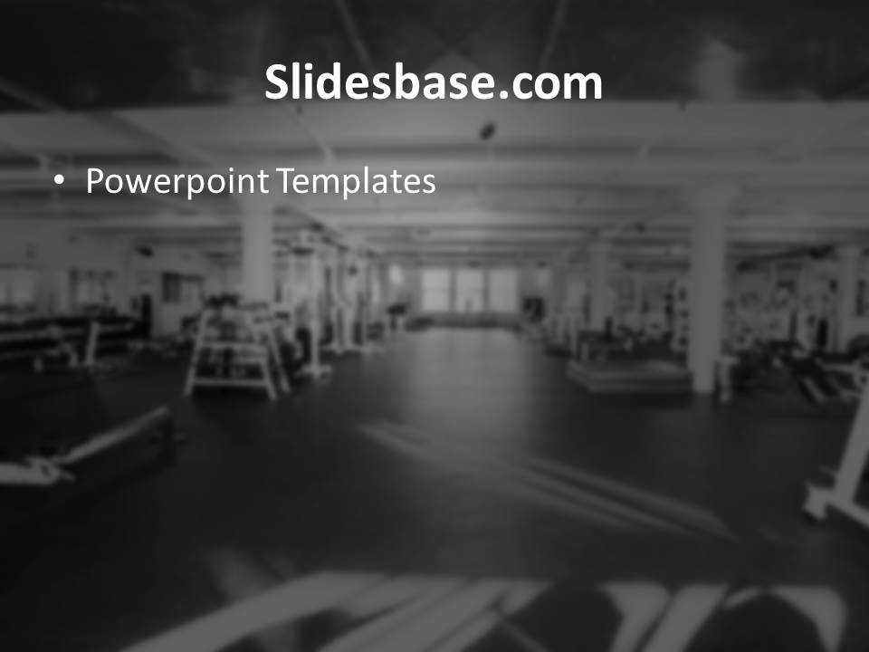 Gym Training Powerpoint Template Slidesbase - Fitness Templates Free