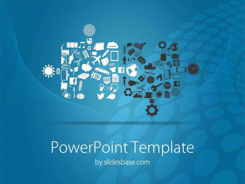 Connecting Puzzles PowerPoint Template Slidesbase
