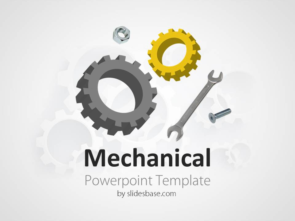 Green City 3d Wallpaper Mechanical Engineering Powerpoint Template Slidesbase