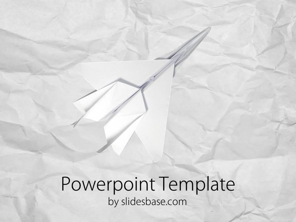 Paper Plane Airstrike Powerpoint Template Slidesbase