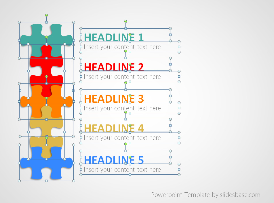 Puzzle List Diagram Powerpoint Template Slidesbase