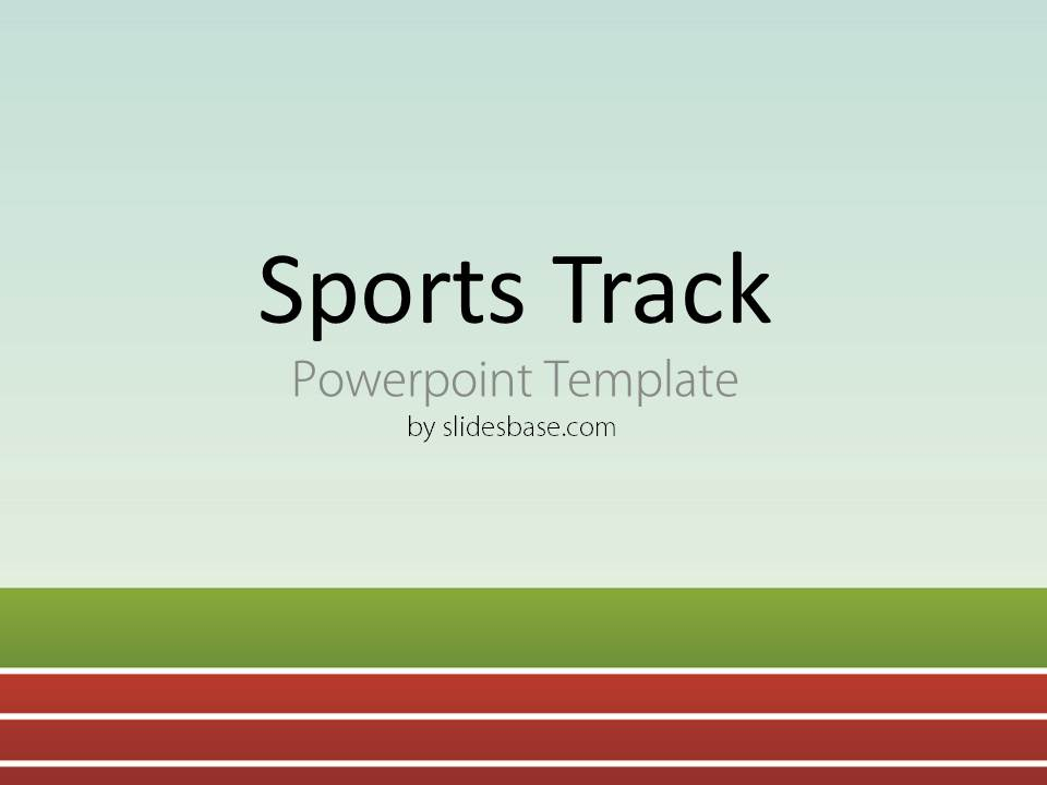 Sports Track Powerpoint Template Slidesbase