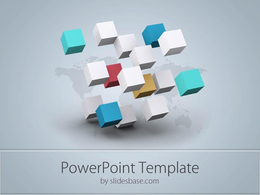 3D Business Cubes PowerPoint Template Slidesbase