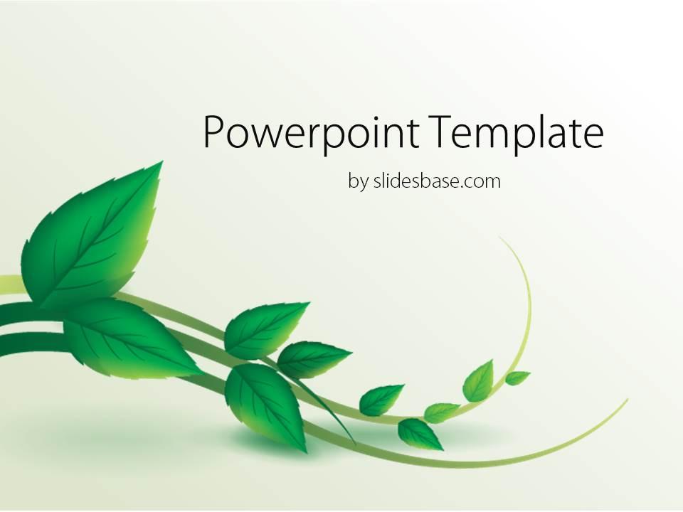 Fall Autumn Computer Wallpaper Vine Leaf Powerpoint Template Slidesbase