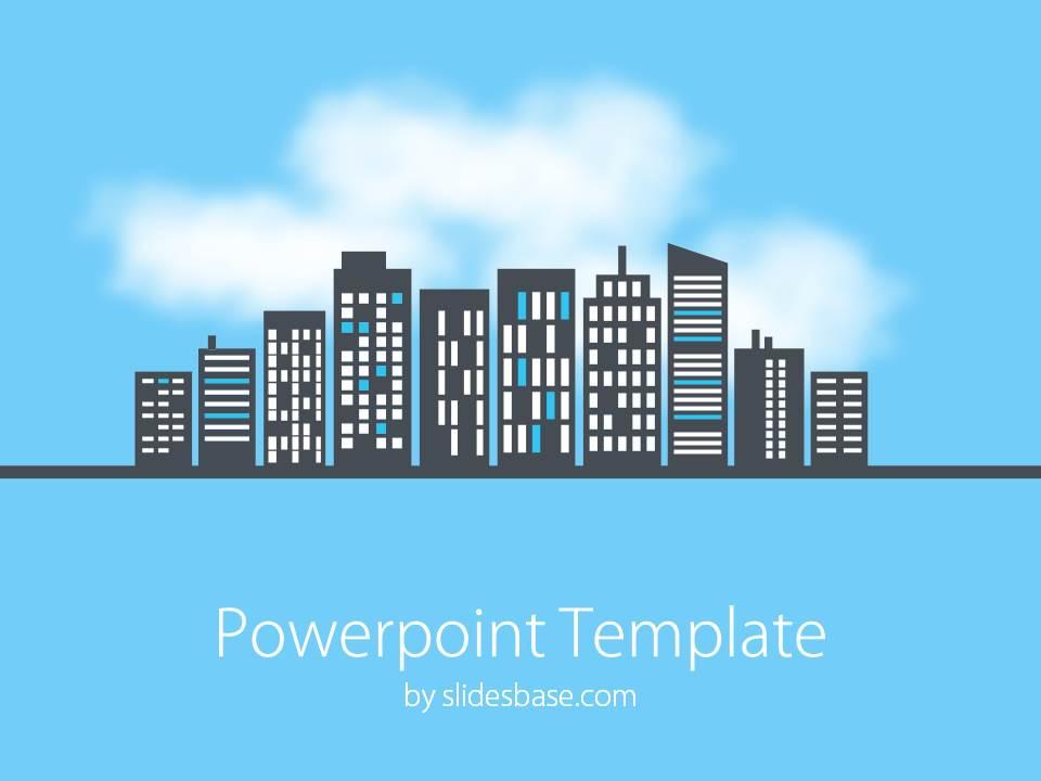 Cityscape PowerPoint Template Slidesbase
