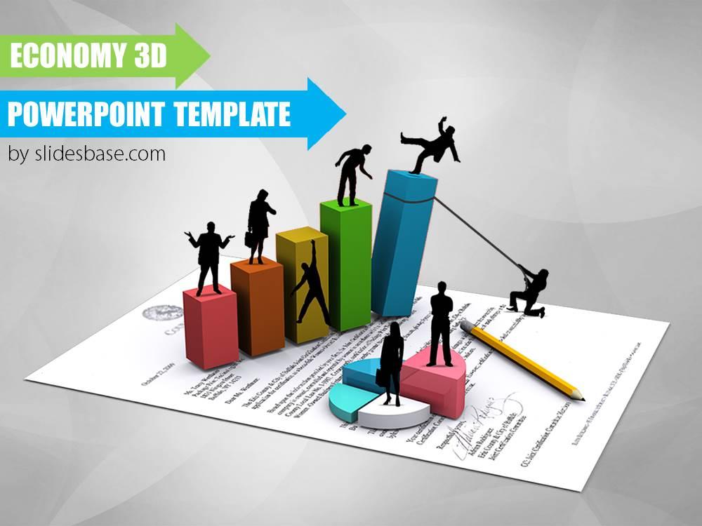Economy 3D PowerPoint Template Slidesbase