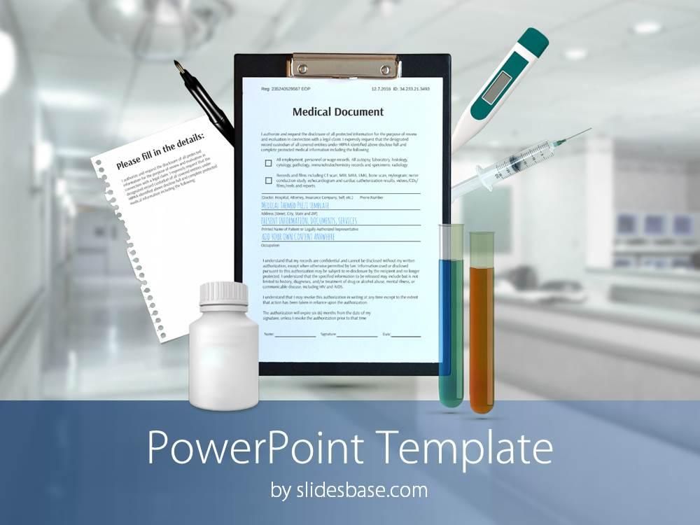3D Medical PowerPoint Template Slidesbase